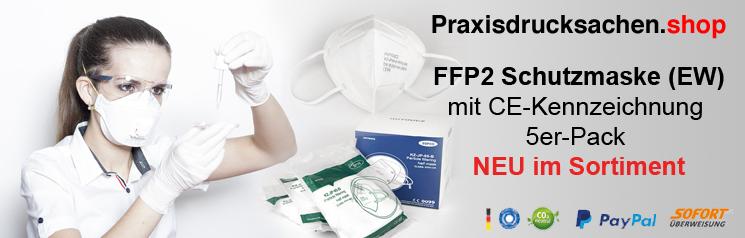 FFP2 Schutzmaske (EW) mit CE-Kennzeichnung 5er-Pack