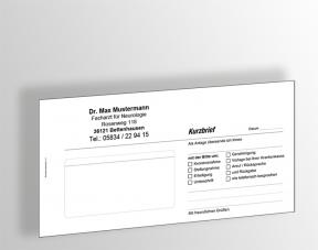 Kurzbriefe DINlang, (Block mit 65 Blatt) und Ihrem Praxiseindruck