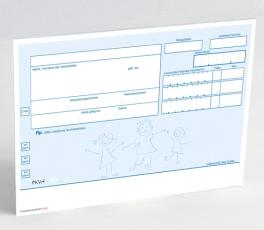 500 Rezeptvordrucke PKV, blau, Kinder OHNE Praxiseindruck
