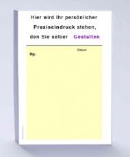 Rezeptblock DIN A6, 65 Blatt, gelb mit Praxiseindruck