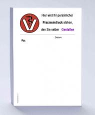 Rezeptblock DIN A6, 65 Blatt, Logo Tierarzt mit Praxiseindruck