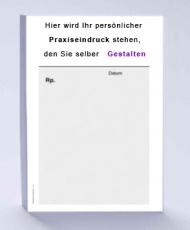 Rezeptblock DIN A6, 65 Blatt, grau mit Praxiseindruck
