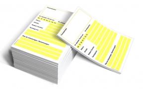 Terminzettel DIN A6 Profi (gelb)