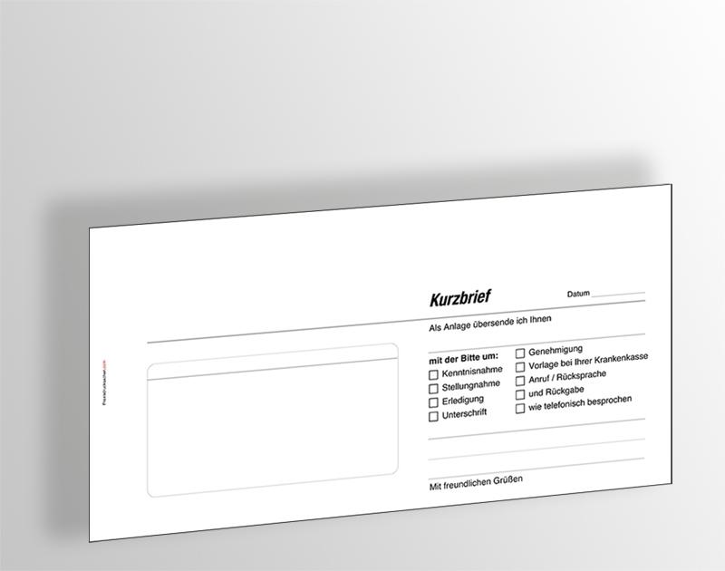Kurzbrief Kurzmitteilung Muster Vorlage Zum Download