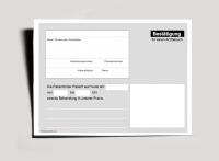 Bestätigung Praxisbesuch, DIN A6 quer, einfach (je 500 Stück)