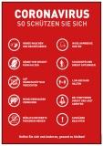 Hygienetipps Plakate und Tresenaufsteller