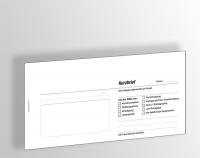 Kurzbriefe DINlang, Blöcke je 65 Blatt, ohne Praxiseindruck