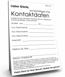 Kontaktdaten DIN A6, 1.000er-Packung