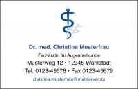 250 Visitenkarten mit Logo Aeskulap blau (mit Ihrer Gestaltung)