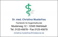 250 Visitenkarten mit Logo Aeskulap grün (mit Ihrer Gestaltung)