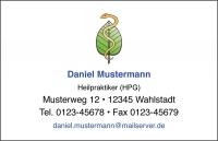 250 Visitenkarten mit Logo Verband Freie Heilpraktiker (mit Ihrer Gestaltung)