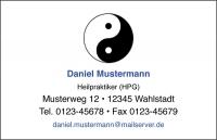 250 Visitenkarten mit Logo Yin Yang (mit Ihrer Gestaltung)