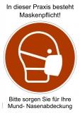 Plakat Maskentragepflicht