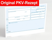 500 Rezeptvordrucke PKV, blau, OHNE Praxiseindruck