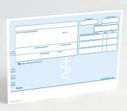 500 Rezeptvordrucke PKV, blau, Aeskulap, OHNE Praxiseindruck
