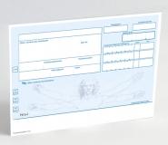 500 Rezeptvordrucke PKV, blau, Leonardo OHNE Praxiseindruck