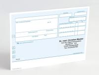 500 Rezeptvordrucke PKV, blau, mit Praxiseindruck