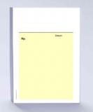 Rezeptblock DIN A6, gelb ohne Praxiseindruck