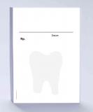 Rezeptblock DIN A6, weiss, Schattendruck Zahnarzt