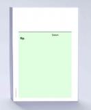 Rezeptblock DIN A6, grün ohne Praxiseindruck