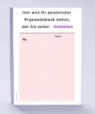 Rezeptblock DIN A6, 65 Blatt, rosa mit Praxiseindruck