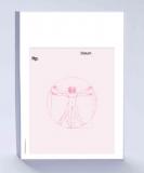 Rezeptblock DIN A6, rosa, Schattendruck Leonardo