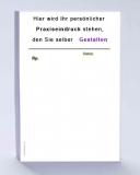 1 Rezeptblock DIN A6, 30 Blatt, weiß mit Praxiseindruck