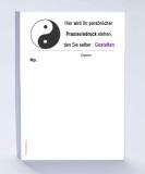 Rezeptblock DIN A6, 65 Blatt, mit Logo YingYang mit Ihrem Praxiseindruck