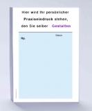 Rezeptblock DIN A6, 65 Blatt, blau mit Praxiseindruck