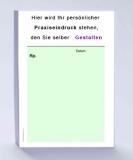 Rezeptblock DIN A6, 65 Blatt, grün mit Praxiseindruck