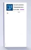 Rezeptblock DIN-lang, 65 Blatt, Logo Leonardo blau, mit Praxiseindruck
