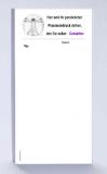 Rezeptblock DIN-lang, 65 Blatt, Logo Leonardo sw mit Praxiseindruck