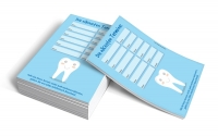 Terminzettel Zahn, blau