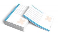Terminzettel Heftpflaster, blau