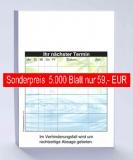 5.000 Terminzettel, DIN A7 wellness