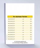 1.000 Terminzettel, DIN A7 gelb / tolles Layout