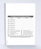 Terminzettel DIN A6 hoch Zahnarzt Block mit 65 Blatt