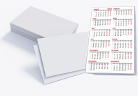 1.000 Visitenkarten blanco für Ihren Praxisstempel mit Kalender 2021 auf Rückseite